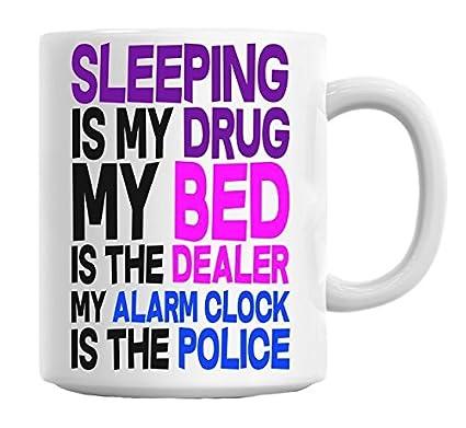 Texto en inglés taza es mi droga saco de dormir