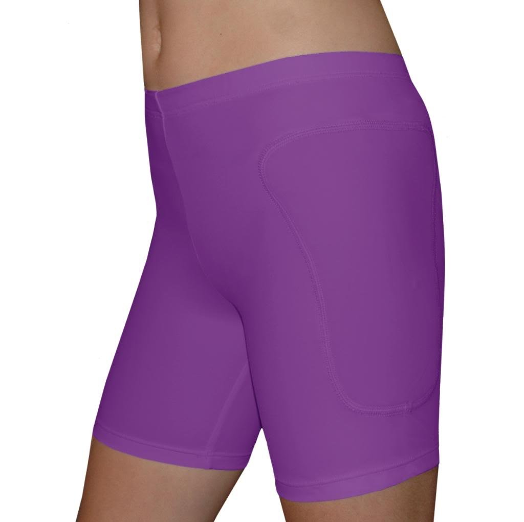 Tuga Padded Slider Shorts, 5'' Inseam, Purple, Small by Tuga Sportz