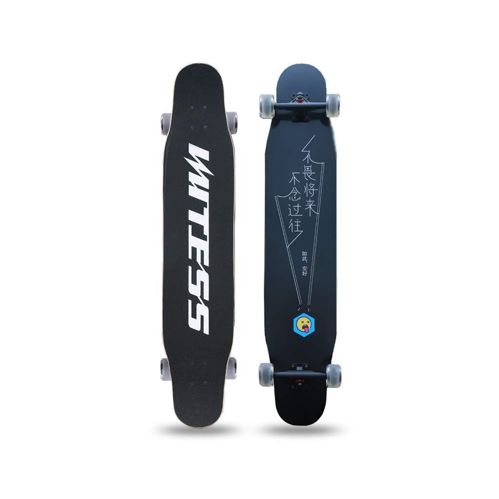HXGL-Skateboards Longborads Skateboards 47 Inches Complete Skateboard for Beginner Professional Skateboard Brush Street Gift Flash Wheel - So Safe (Color : A)