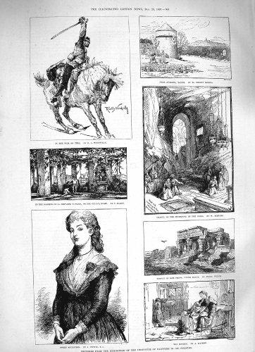 old-print Print 1883 Oil Painters Sier Horse Gardens Paolo Kom Ombos 604P183 (Oil Sier)
