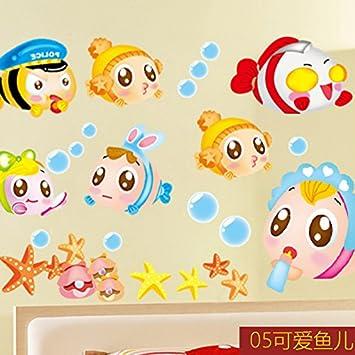 Jintie Wall Sticker Der Wechseldatentrager Bubble Fish
