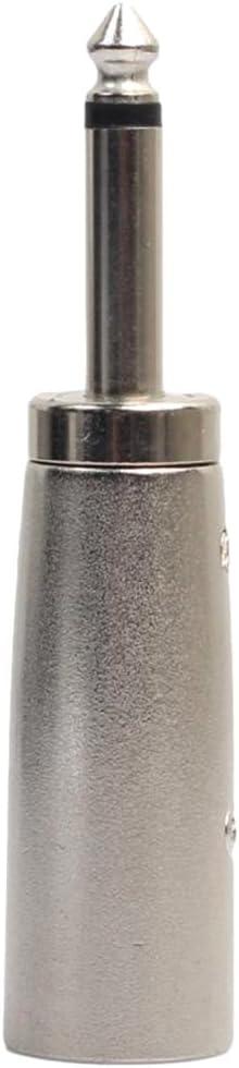 """1//4 /"""" 3 Poliger XLR Stecker An 6,35 Mm Mono Klinken Audiokabel Mikrofonadapter"""