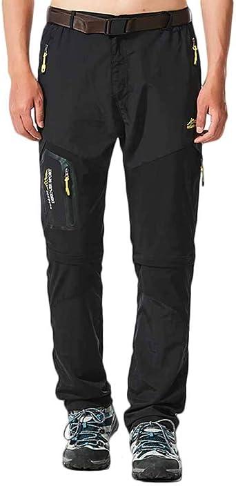 Quge Hombre Tactical Pants Desmontable Secado Rápido Pantalones De Escalada De Múltiples Bolsillos