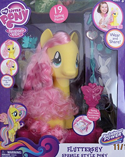 MY LITTLE PONY Friendship is Magic FLUTTERSHY SPARKLE STYLE PONY w Super LONG HAIR (My Little Pony Monster High)