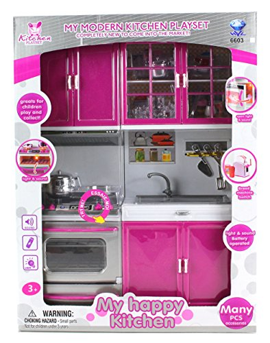 My modern kitchen stove oven sink battery operated toy for Kitchen set toys amazon