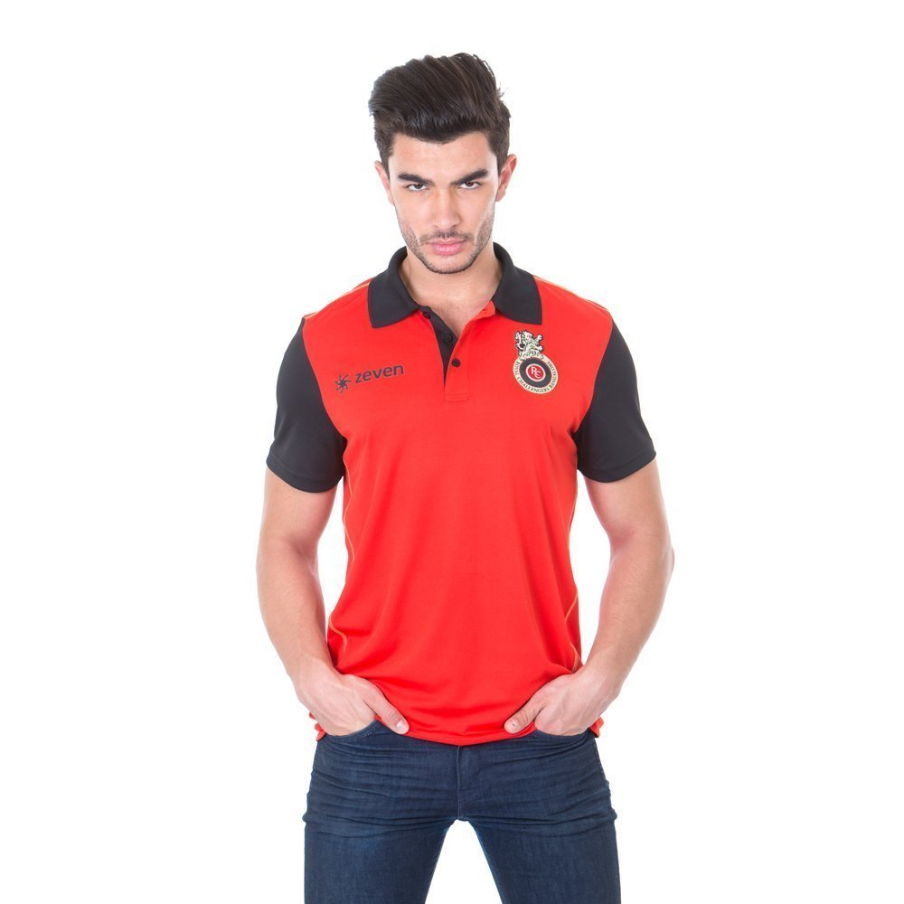 964b767a0ddb Royal Challengers Bangalore (RCB) Solid Men's Polo Neck T-Shirt - IPL17:  Amazon.in: Sports, Fitness & Outdoors