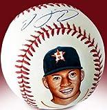Carlos Correa Signed & Hand Painted Baseball
