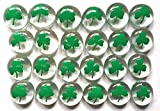 SHAMROCKS - Set of 24 Hand Painted Glass Gems; Party Supplies, Party Favor, Decoration, Token, Memoir, etc...let your imagination run wild!