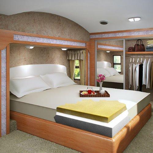 8 Inch Queen Size Accu-Gold 5.3 Visco Elastic Memory Foam Mattress Bed