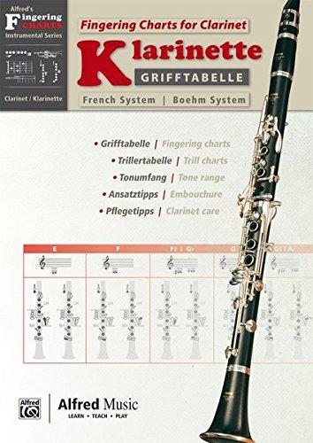 Grifftabelle für Klarinette Boehm-System [Fingering Charts for Clarinet -- French System]: German / English Language Edition, Chart (System Clarinet German)