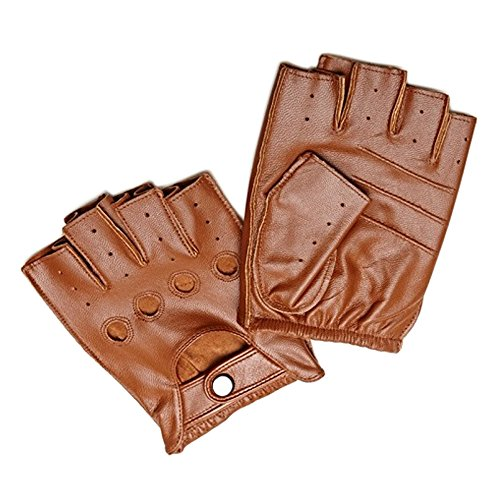 Deerskin Fingerless Driving Fitness Motorcycle