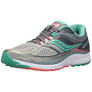 Saucony Women's Guide 10 Running Shoe, Grey Teal, 8 Medium US