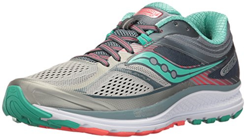 (Saucony Women's Guide 10 Running Shoe, Grey Teal, 9 Medium US)