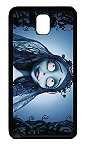 Samsung Galaxy Note 3 Case, Note 3 Case - Slim Fit Soft Rubber Case Bumper for Galaxy Note 3 Bride Corpse Highly Protective Black Rubber Covers for Samsung Galaxy Note 3