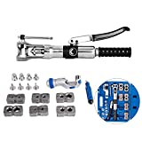 Mophorn Hydraulic Flaring Tool Kit with Tube Cutter Double Flare Tool Kit Deburrer Fuel Line 8PCS Swage Adapter Brake Flaring Tool Kit