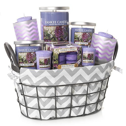 Yankee Candle Lilac Blossoms Wire Basket