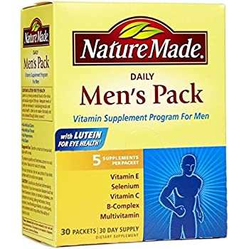Nature Made Daily Men's Pack Vitamin Supplement Program 30 Each (Pack of 3)