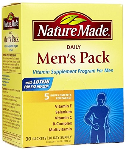 Nature Made Daily Men's Pack Vitamin Supplement Program 30 Each (Pack of 3) (Multivitamin Men Nature Made compare prices)