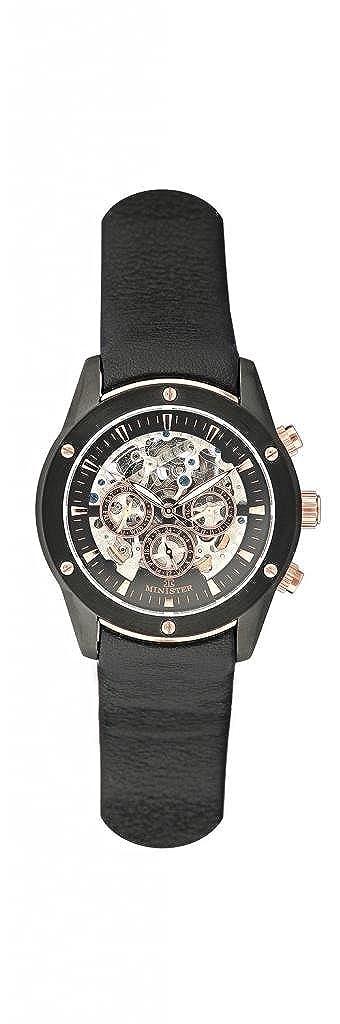Minister automatico-8518 Reloj hombre de pulsera automatico-: Amazon.es: Relojes