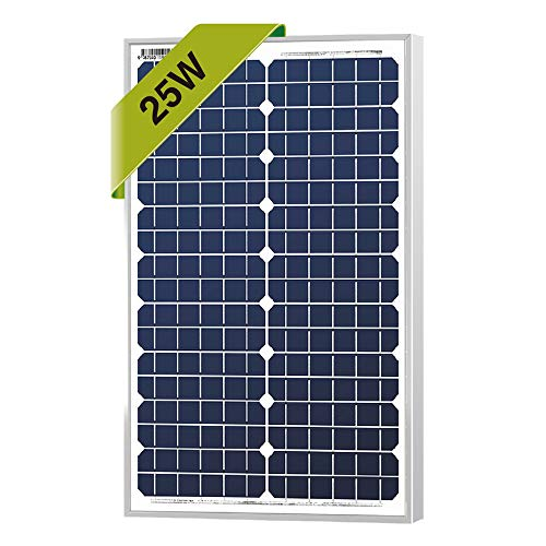 25 Watts Monocrystalline Newpowa 12v Mono Solar Panel Module 20W < 25W < 30W Rv Marine Boat Off Grid (Panel Mono Solar)