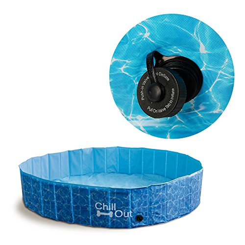 ALL FOR PAWS Outdoor Bathing Dog Pool Portable Pet Bath Tub Blue by ALL FOR PAWS (Image #4)
