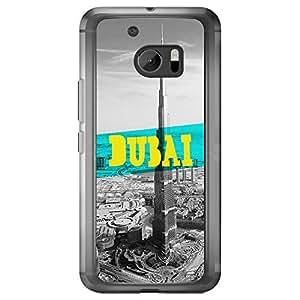 Loud Universe HTC M10 Cities Dubai Printed Transparent Edge Case - Grey