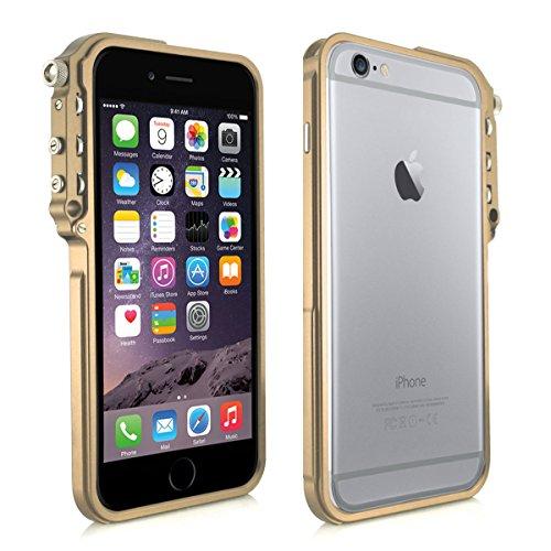 Alienwork Coque pour iPhone 6 Plus/6s Plus or champagne Case Etuis Housse Contre les chocs Aluminium or AP6P05-03