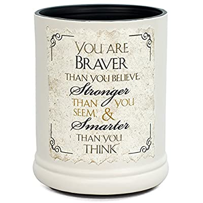 You are Braver Stronger Smarter Ceramic Stoneware Electric Jar Candle Warmer