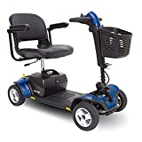 Pride Mobility - Go-Go Sport - Travel Scooter - 4-Wheel - Blue - PHILLIPS POWER PACKAGE TM - TO $500 VALUE