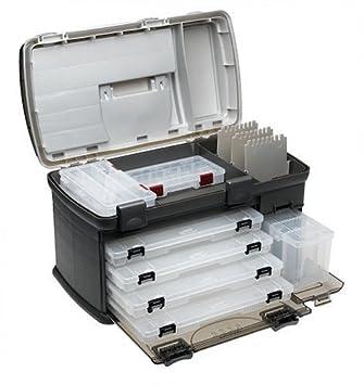 Premium maletín para aparejos de pesca plano pescado bandeja de cajas de organizador con 4 cajones grandes 7921 gran diseño: Amazon.es: Deportes y aire ...
