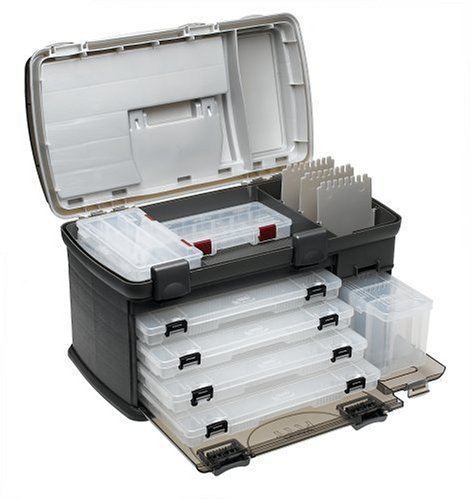 Premium Tackle Box Fishing Plano Fish Organizer Boxes with 4 Tray Drawer Large 7771 Big Design -