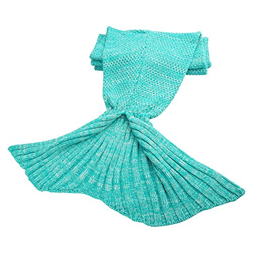 Mermaid Tail Blanket, MAXCHANGE Handmade High Density Thick Mermaid Blanket, Soft and Warm for All Seasons, A Sweet Gift for Girlfriends