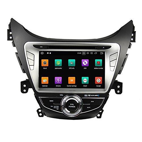 KUNFINE Android 9.0 Otca Core 4GB RAM Car DVD GPS Navigation Multimedia Player Car Stereo for Hyundai Elantra Avante IX35 2011 2012 2013 Steering Wheel Control 3G WiFi Bluetooth Free Map Update