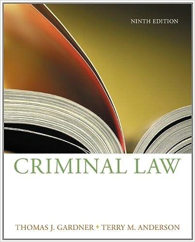 ANDERSON - Criminal Law W/cd 9e