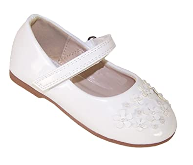 c1fa33915 The Sparkle Club Infant Girls Children White Patent PU Ballerina ...