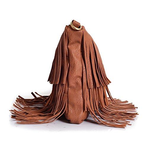 Lino Perros , Damen Schultertasche Braun braun Freie Größe