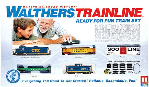 (Walthers Trainline(R) HO Scale Ready-for-Fun Train Set - CSX)
