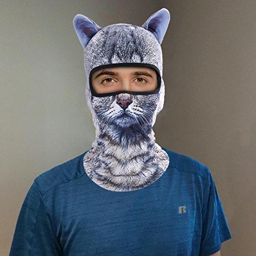 Outgeek Cat Mask, Women Men Balaclava Summer Full Face Hat Animal Ears Sports Helmet Climbing Fishing Cap by Outgeek (Image #8)