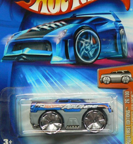 Hot Wheels 2004 First Editions Blings Chevy Avalanche 26/100 BLUE & GRAY 026 -