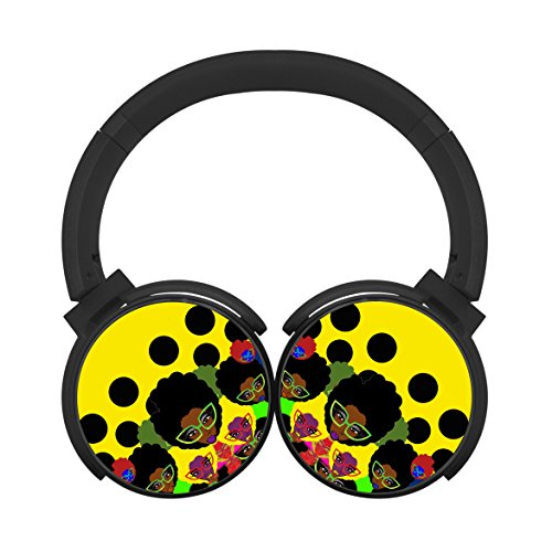 Bluetooth Headphones Computer Gaming Sleeping Headset Noise Cancelling Earphone Wild-curl up Girl Glasses Black