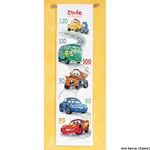 (Disney's Cars Height Chart Counted Cross Stitch)