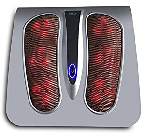 Nirvana by Miko Premium Shiatsu Foot Massager With Easy Toe-Touch Control, Portable and Sleek Design for Easy Stowage