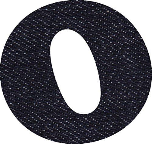デニム 生地 アルファベット O アップリケ アイロン接着可能 大文字 coop