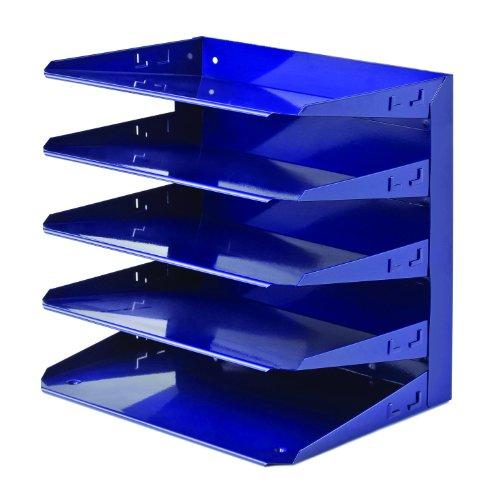 STEELMASTER Steel 5-Tier Horizontal Organizer, Letter Size, Cobalt Blue (26425L008)
