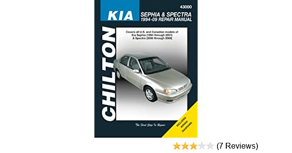 kia sephia spectra 1994 2009 chilton s total car care repair rh amazon com 2000 kia sephia service manual pdf 2000 kia sephia service manual
