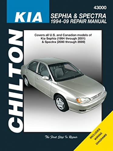 kia sephia spectra 1994 2009 chilton s total car care repair rh amazon com Kia Shuma Roadster Kia Optima