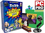 Zu3D Complete Stop Motion Animation Software Kit For Kids Includes Camera Handbook And