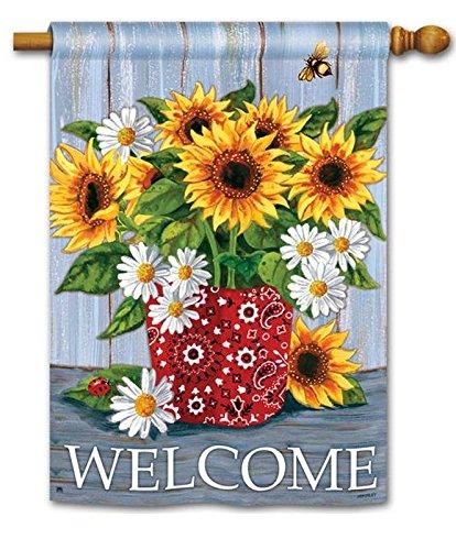 BreezeArt Welcome Bandana Sunflowers 28
