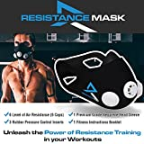 Resistance Training Mask for Sport Workouts, Fitness Running Sports CrossFit High Intensity Interval Training - 6 Levels of Resistance