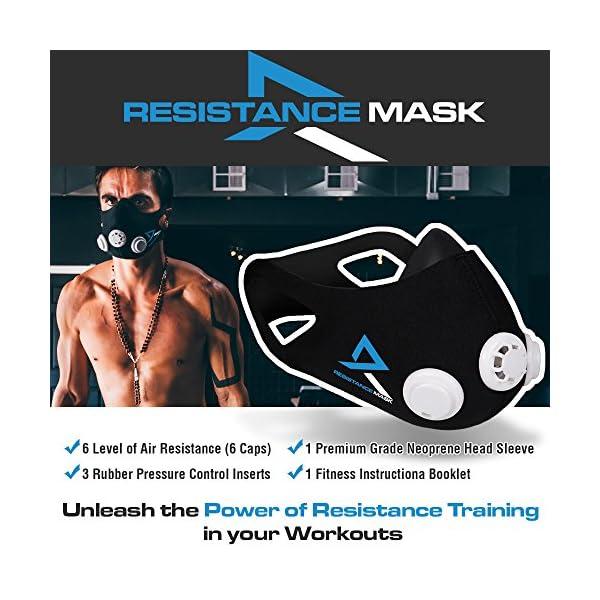 Training Mask Elevation Basic per allenamenti, running, sport, HIIT training [1anno di garanzia] 2 spesavip